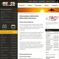 Information, Referral & Relocation Services - MCCS Cherry Point