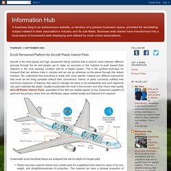 Information Hub: Enroll Renowned Platform for Aircraft Plastic Interior Parts