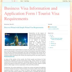 Discover Poland with Simple Poland Visa Requirements