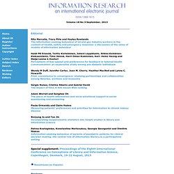 Information Research - Contents - Vol. 18 No. 3