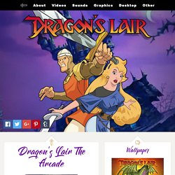 Desktop images from the Classic 1983 Arcade Game Dragon's Lair