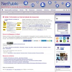 Valider l'information sur Internet (dossier de ressources)