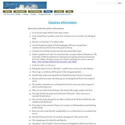 Useless information — richardpettinger.com