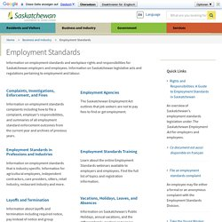 Information for Saskatchewan Businesses and Industry