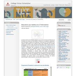 Education aux médias et à l'information - Collège Victor Schoelcher