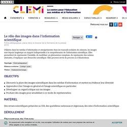 Le rôle des images dans l'information scientifique- CLEMI