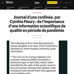 """""""De l'importance d'une information scientifique de qualité en période de pandémie"""""""