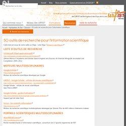 50 outils de recherche pour l'information scientifique