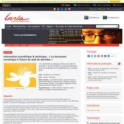 Information scientifique & technique : « Le document numérique à l'heure du web de données »
