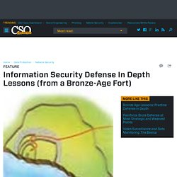 Information Security Defense In Depth Lessons (from a Bronze-Age Fort)