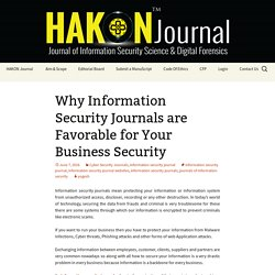 Why Information Security Journals Are Favorable For Your Business Security