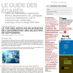 Le TOP des articles en Sciences de l'information. (Ma sélection de septembre)
