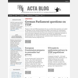 An information service from the FFII e.V. working group on ACTA