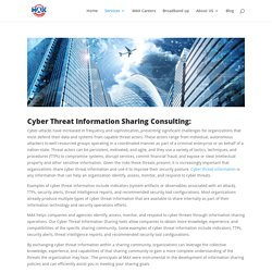 Max Cyber Threat Information Sharing Consulting In United States DC