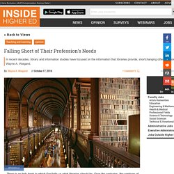 How library and information studies research is shortchanging libraries (essay)