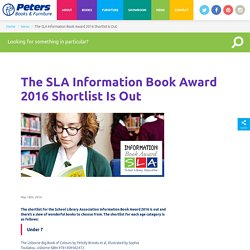 The SLA Information Book Award 2016 Shortlist Is Out - Peters Books & Furniture