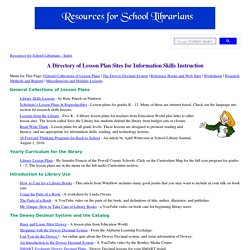 Information Skills Lesson Plans