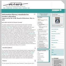 Information literacy standards for teacher education