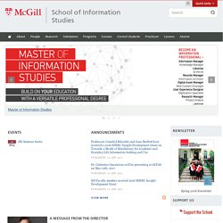 School of Information Studies | School of Information Studies