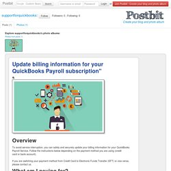 Update billing information for your QuickBooks Payroll subscription""