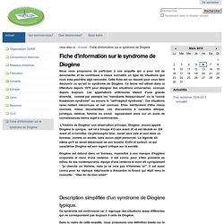 Fiche d'information sur le syndrome de Diogène — CMRR