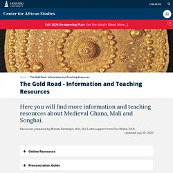 The Gold Road - Information and Teaching Resources