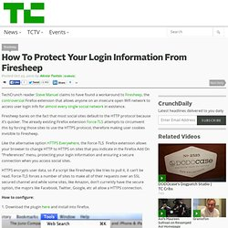 How To Protect Your Login Information From Firesheep