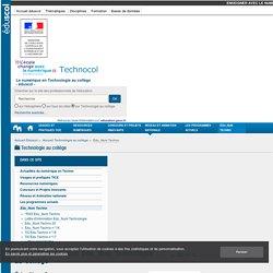 Lettre d'information Édu_Num Technologie au collège — Technologie au collège