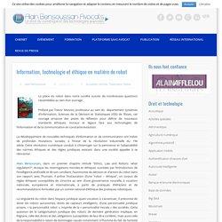 Information, technologie et éthique en matière de robot
