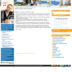 Bulletin d'information Sciences et Technologie