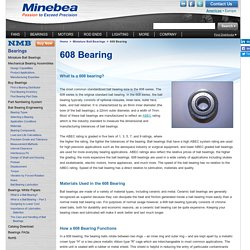 608 Bearing Information - NMB Technologies Corporation