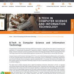B.Tech in Computer Science and Information Technology