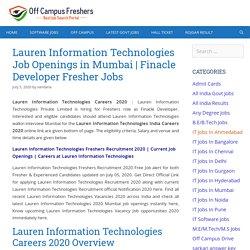 Lauren Information Technologies Careers 2020