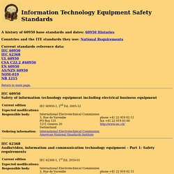 Information Technology Equipment Safety Standards