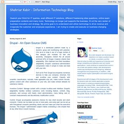Drupal - An Open Source CMS
