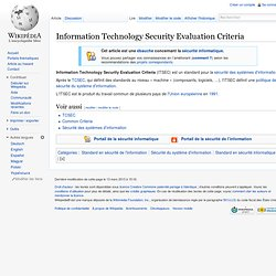 Information Technology Security Evaluation Criteria