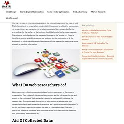 Get pool of information via web research - Marvel Technology