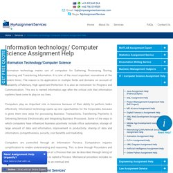 Best Computer Science Assignment Help By My Assignment Services