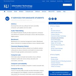 IT Services for Graduate Students