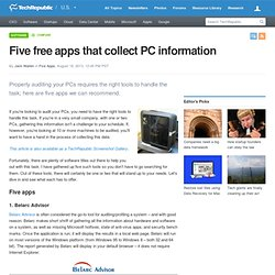 Five free apps that collect PC information
