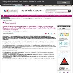 Renforcer l'éducation aux médias et à l'information à l'École : le ministère et France Télévisions s'engagent