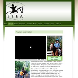 Program Information » FTEA – Friends for Therapeutic Equine Activities