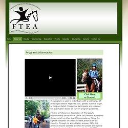 Program Information » FTEA – Friends for Therapeutic Equine Activities