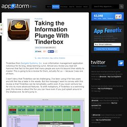 Taking the Information Plunge With Tinderbox