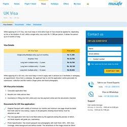 UK Visa - Information on UK Tourist Visa for Indians - Musafir