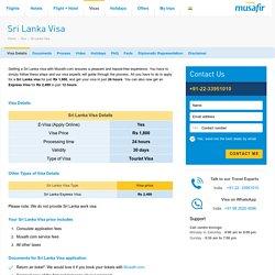 Sri Lanka Visa - Information On Sri Lanka Tourist Visa - Musafir