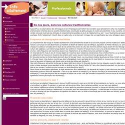 IPA Information pour l'Allaitement - De nos jours, dans les cultures traditionnelles