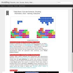 Cura dei Contenuti, Chunking Information, micro - learning, traduzione - G. Marini