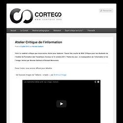 Atelier Critique de l'information