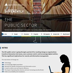 The Public Sector - Information management in an age of transformation